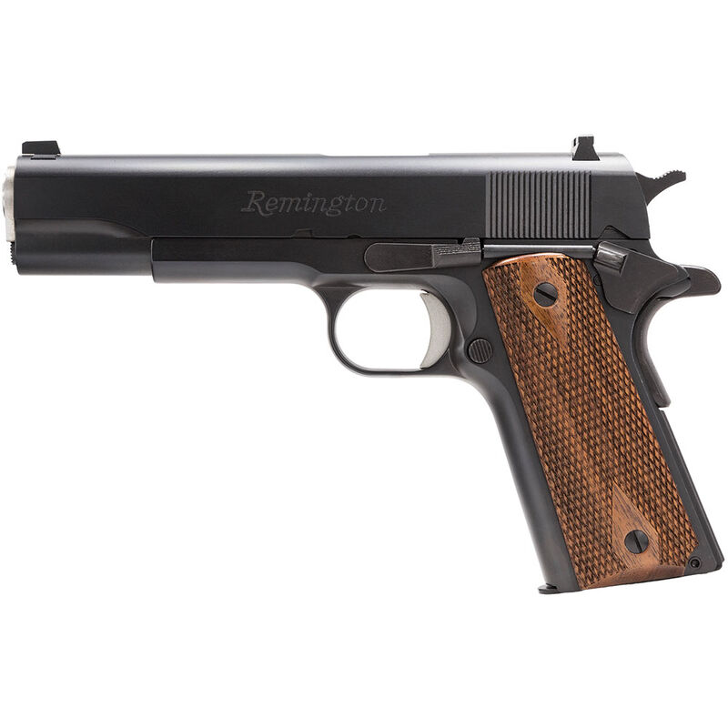 Remington Model 1911 R1 Semi Auto Handgun 45 ACP 5 Barrel 7 Rounds Double Diamond Walnut Grips Black Finish 96323