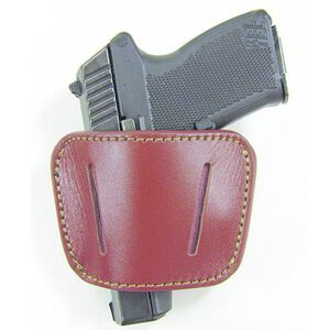 Personal Security Products Medium to Large Frame Auto Belt Slide Holster Ambidextrous Leather Brown HL035BRN