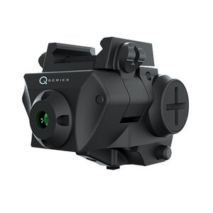 iProTec Q-Series SC-G Subcompact Pistol Weapon Green Laser Sight 5mW CR2 Battery Side-Positioned ON/OFF Buttons Rail Mounted Black 6117