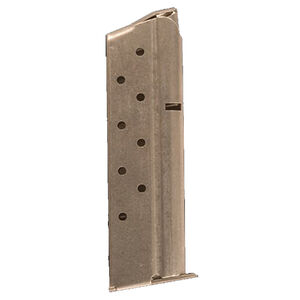 Colt 1911 Delta Elite Full Size Magazine 10mm Auto 8 Rounds Stainless Steel Natural Finish