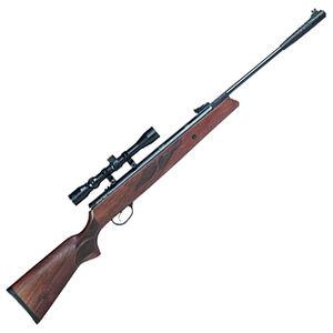 "Hatsan Model 95 .177 Caliber Break Barrel Air Rifle 15.9"" Barrel 1000 fps Single Shot 3-9x32 Scope Walnut Stock Black Finish"