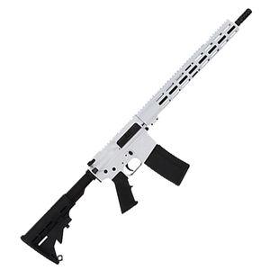 "GLFA .223 Wylde Semi-Auto Rifle 16"" Barrel 30 Rounds Flat Top Optics Ready Synthetic Black Stock White Finish"