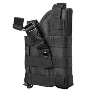 NcSTAR Ambidextrous Modular MOLLE Holster Most Full and Compact Pistol with or without Light or Laser Nylon Black