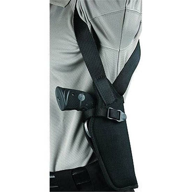 "BLACKHAWK! Vertical Shoulder Holster Size 00 Right-Hand 2"" to 3"" Small/Medium Double-Action Revolvers Cordura Nylon Black"