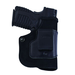 Galco Stow-N-Go GLOCK 43 with Viridian Reactor IWB Holster Right Hand Leather Black