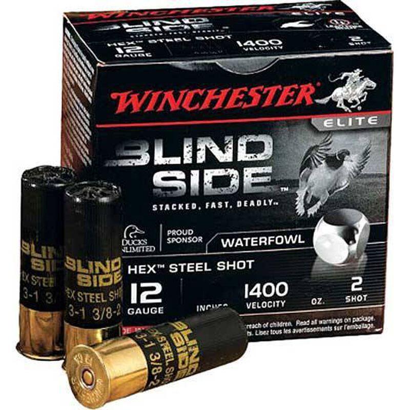 """Winchester Blind Side 12 Gauge Ammunition 3-1/2"""" #2 Steel Shot 1-5/8 Oz 1400 fps"""
