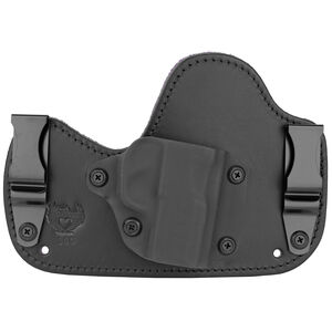 Flashbang Ava Inside the Waistband Holster for S&W Bodyguard .380 ACP (No Laser) Right Hand Draw Black Kydex Shell/Black Leather Body/Royal Purple Suede Backing