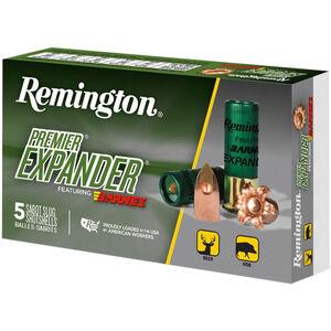 """Remington Premier Expander Sabot Slug 12 Gauge Ammunition 5 Rounds 3"""" Copper Slug 437 Grains PRX12M"""