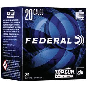 "Federal Top Gun Sporting 20 Gauge Ammunition 250 Rounds 2-3/4"" Shell #7.5 Lead Shot 7/8oz 1250fps"