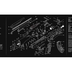 "JE Machine 12"" x 36"" Long Gun Cleaning Mat with AK-Imprint"