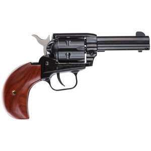 "Heritage Rough Rider Revolver Single Action Army 22LR And 22WMR 3.75"" Barrel Alloy Blue Wood 6 Round Bird's Head Grips Fired Case Right Hand Fixed Sights 22MB3BH"