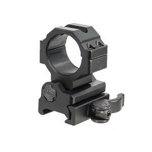 "Leapers UTG 30mm Flip-to-Side QD Ring Mount 27mm and 1"" Diameter Inserts 40mm Center Height Picatinny/Weaver Mount Aluminum Black RG-MF30QS"