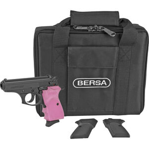 "Bersa Thunder 380 Pink Grip Kit .380 ACP Semi Auto Pistol 3.5"" Barrel 8 Rounds Pink Synthetic Grips Matte Black Finish"
