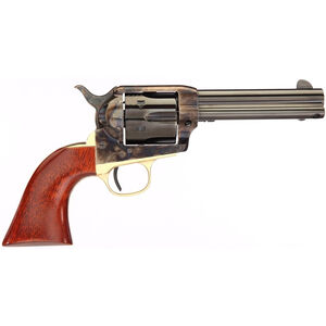 """Taylor's & Co The Ranch Hand .45 LC Single Action Revolver 4.75"""" Blued Barrel 6 Rounds Tuned Action Walnut Grips Brass Back Strap Case Hardened Finish"""