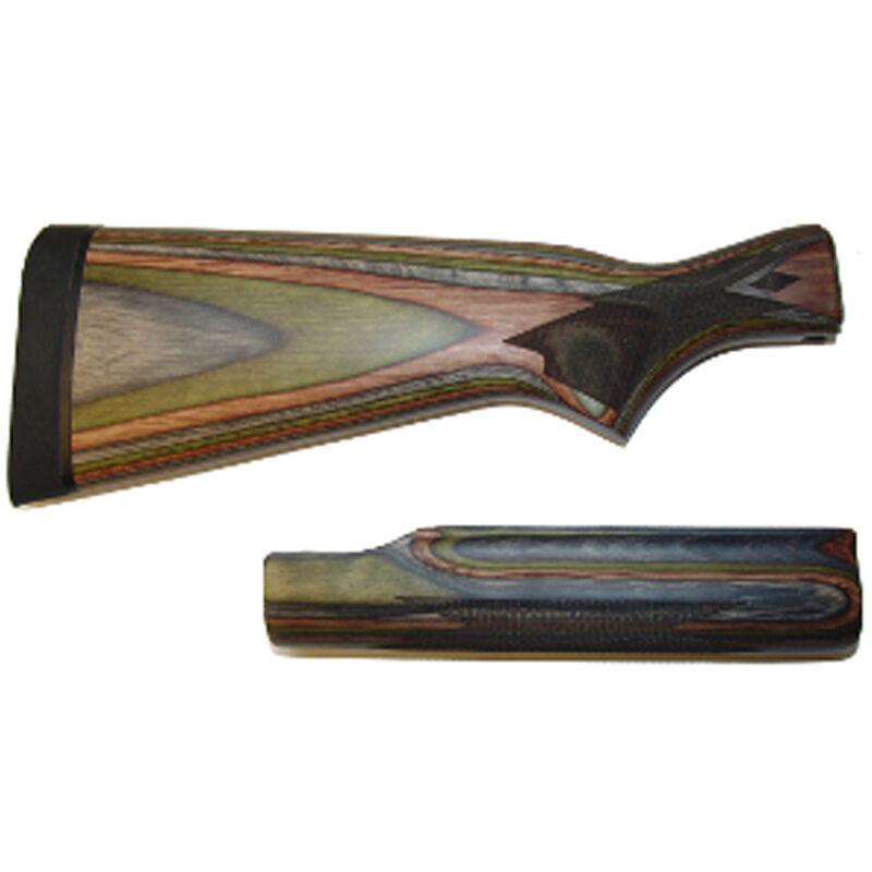 Remington 870 12 Gauge Shotgun Stock and Forend Wood Laminate Satin Green  Finish 17859