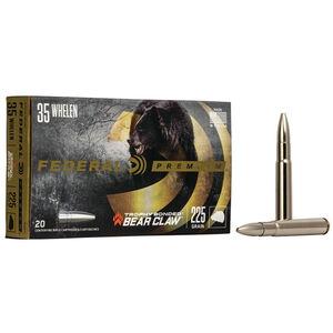Federal Trophy Bonded Bear Claw 35 Whelen Ammunition 225 Grains TBBC 2600 fps