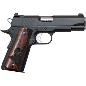 "Dan Wesson 1911 Vigil Commander .45 ACP Semi Auto Pistol 4.25"" Barrel 8 Rounds Fixed Front Night Sight/Tactical Rear Sight Wood Grips Forged Aluminum Frame Matte Black"