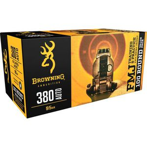 Browning BPT Performance Target .380 Auto Ammunition 95 Grain FMJ 1000 fps