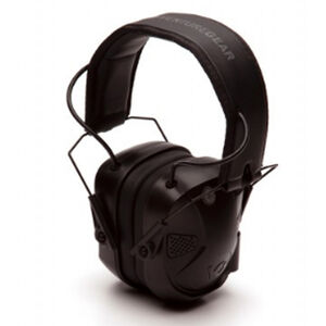 Pyramex VGPME30BT AMP BT Earmuff Electronic Earmuff 26dB Noise Reduction Rating 2 AAA Batteries Black Finish