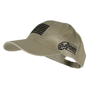 Voodoo Tactical Cap Poplin Embroidered Logo and Flag Adjustable One Size Sand 20-9353025000
