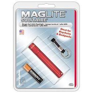 Solitaire MagLite Flashlight AAA Battery Red Warranty K3A036