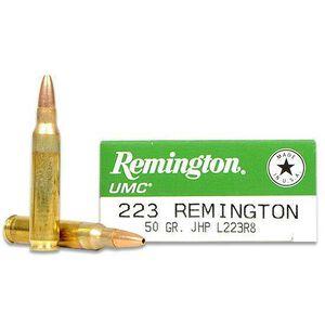 Remington UMC .223 Rem 50 Grain JHP 20 Round Box