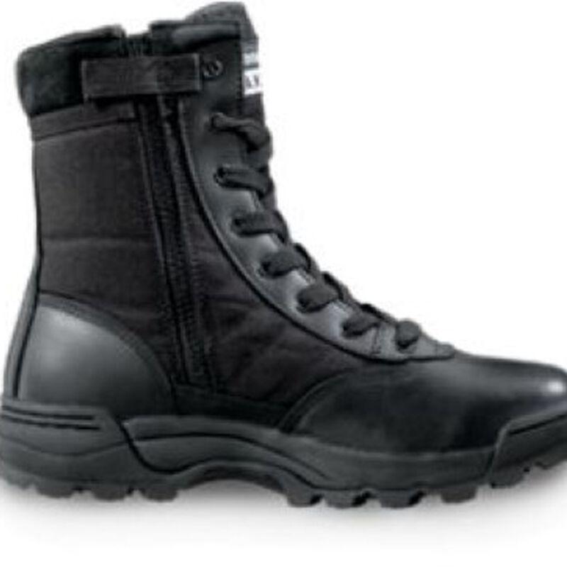 "Original S.W.A.T. Classic 9"" Side Zip Men's Boot Size 9.5 Regular Non-Marking Sole Leather/Nylon Black 115201-95"