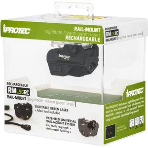iProTec RMLSG RC Green Laser Fits Subcompact Handgun 5mW Rechargeable Rail Mount Black