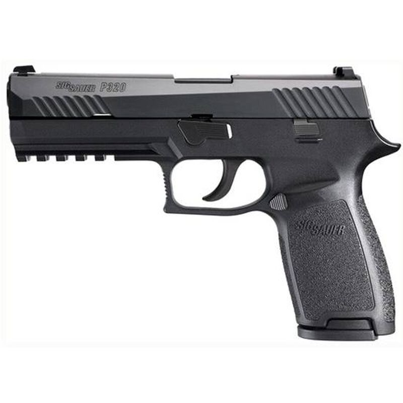 """SIG Sauer P320 Full Size Semi Auto Pistol 9mm Luger 4.7"""" Barrel 17 Rounds Polymer Frame with Contrast Sights G320F9B"""