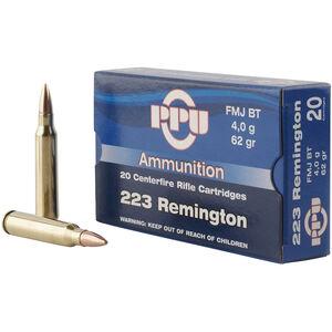 Prvi Partizan PPU Standard .223 Rem Ammunition 20 Rounds 62 Grain FMJBT 3042fps