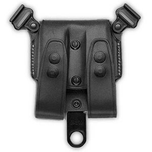 Galco SCL GLOCK 21, 20, 36 Double Magazine Case Component for Shoulder System Leather Black SCL28B