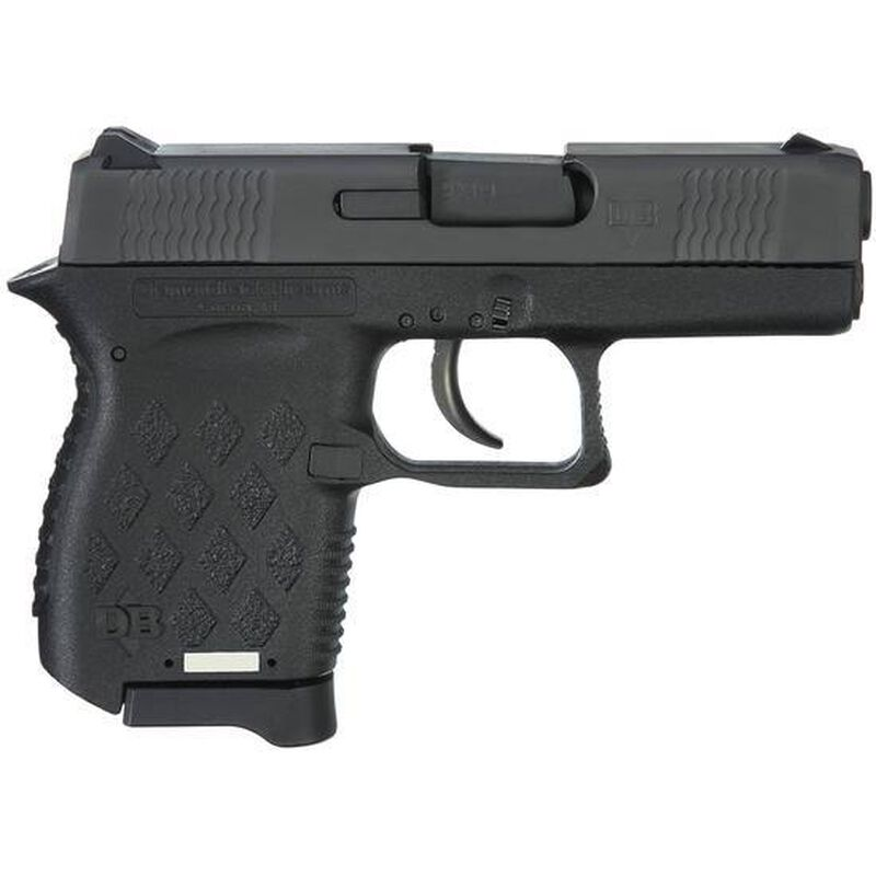 "Diamondback DB9 Semi Auto Pistol 9mm Luger 3"" Barrel 6 Rounds Matte Black Slide Polymer Frame Matte Black"