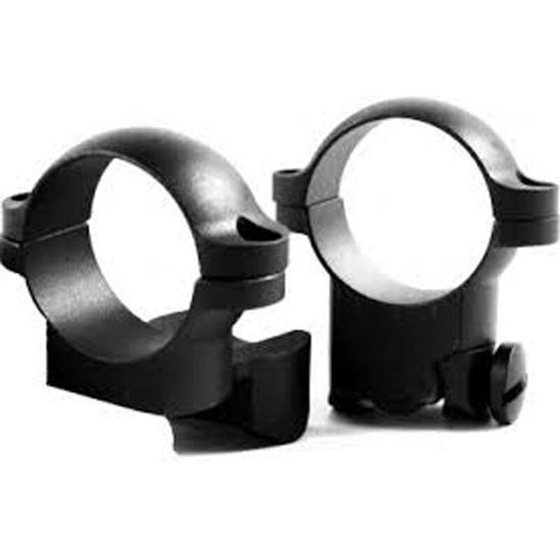 "Leupold Ruger Ring Mounts 1"" Diameter Medium Extended Height Matte Finish Black 52306"