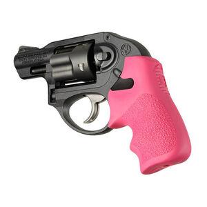 Hogue Tamer Ruger LCR Finger Groove Pistol Grip Textured Rubber Cushion Back Pink