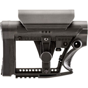 Luth-AR MBA-4 AR-15 Carbine Buttstock With Cheek Riser Polymer Black MBA-4-CHP