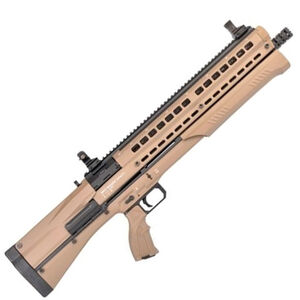 "UTAS UTS-15 Pump Action Shotgun 12 Gauge 19.5"" Barrel 3"" Chamber 15 Rounds Polymer Body Flat Dark Earth Cerekote Finish PS1FD1"