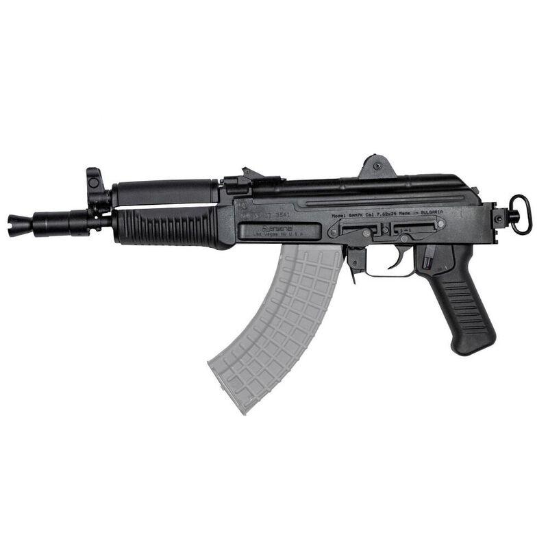 "Arsenal SAM7K AK-47 7.62x39mm Semi Auto Pistol 10.5"" Barrel 5 Rounds Milled Receiver Matte Black"