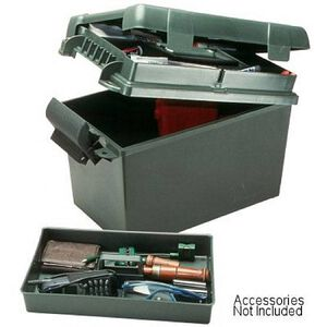 """MTM Case Gard Sportsman's Plus Utility Dry Box 15""""x8.5""""x10"""" Lid Compartment Lift Out Tray Padlock Tab Forest Green SPUD1-11"""