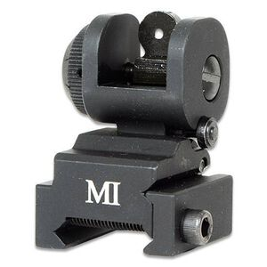 Midwest Industries AR-15 ERS Flip Up Rear Sight Aluminum Black MCTAR-ERS