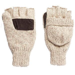 Hot Shot Gear Insulated Ragg Wool Pop-Top Mitten 40g 3M Thinsulate Oatmeal
