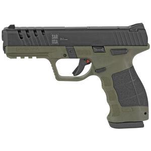 "SAR SAR9X 9mm Luger Semi Auto Pistol 4.4"" Barrel 19 Rounds OD Green and Black"