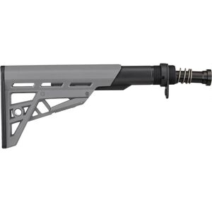ATI AR15 TactLite Six Position Mil-Spec Stock with Military Buffer Tube Assembly Anodized Aluminum and Polymer Destroyer Gray B.2.40.2214