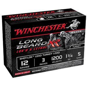 "Winchester Long Beard 12 Gauge Ammunition 10 Rounds, 3"", Pl ated #5"