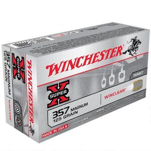 Winchester Winclean .357 Magnum Ammunition 500 Rounds, BEB, 125 Grain