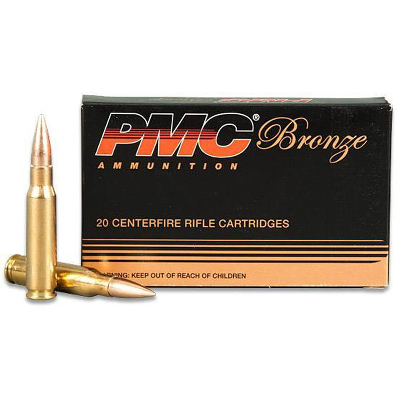 PMC Bronze .308 Winchester Ammunition 147 Grain FMJ 2780 fps
