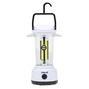 LitezAll COB LED 2000 Lumen Lantern ABS Plastic 4x D Batteries White
