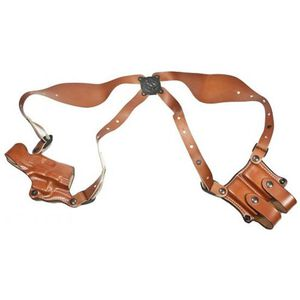 """DeSantis New York Undercover 1911 Government 3"""" to 5"""" Barrel Shoulder Holster with Ammo Carrier Right Hand Leather Tan 11DTA21L0"""