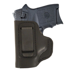 DeSantis Insider IWB Holster S&W Bodyguard 380 Left Hand Leather Black 031BBU7Z0