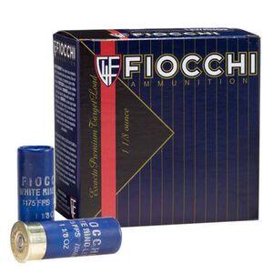 "Ammo 12 Gauge Fiocchi White Rino 2-3/4"" #9 Lead 1-1/8 Ounce 250 Round Case 1250 fps 12WRNO9"