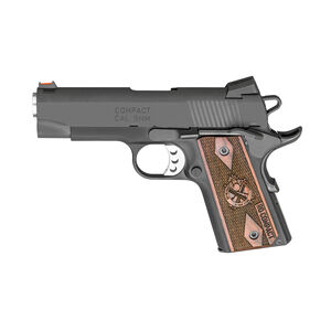 "Springfield Armory 1911 Range Officer Compact 9mm Luger Semi Auto Pistol 4"" 8 Round Parkerized Black"
